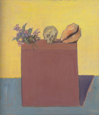 Still Life with Bouquet, Shell and Skull