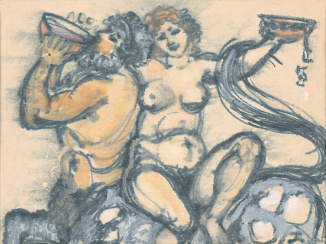 Feasting Centaur and Bacchante
