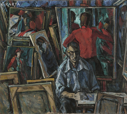 Self-Portrait in the Workshop, Peter Gorban