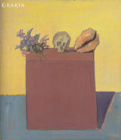 Still Life with Bouquet, Shell and Skull, Mikhail Ivanov