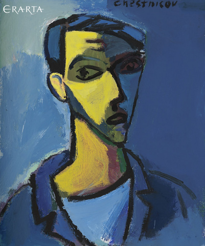 Self-Portrait Chestnikov (blue), Chestnikov Yury